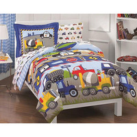 Trucks and Tractors 5-piece Twin-size Bed in a Bag with Sheet Set | Overstock.com Shopping - The Best Deals on Kids' Bed in a Bags