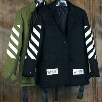 OFF-WHITE Long Sleeve Cardigan Coat Sweatshirt H-ALG-CPFS