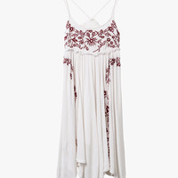 Sleeveless Embroidered Mini Dress