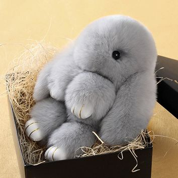 Small Super Soft Plush Rabbit Stuffed Toy Keychain, hanging toy