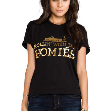 """ROLLIN WITH THE HOMIES"" Print Shirt Tee"
