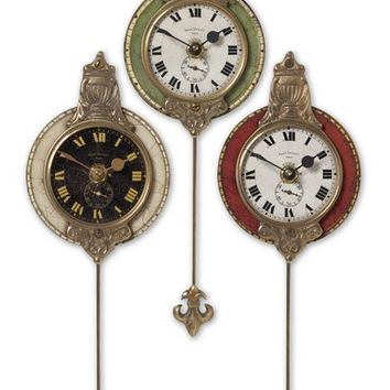 Uttermost Monarch Clock, Set/3 - Uttermost 6046