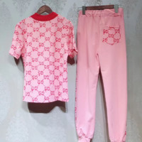 Gucci pink two piece casual two piece suit