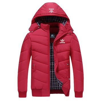 ADIDAS Woman Men Fashion Cotton Cardigan Jacket Coat Windbreaker