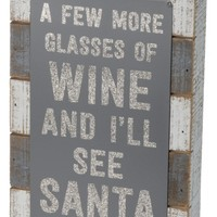 Primitives by Kathy A Few More Glasses Box Sign | Nordstrom