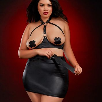 Plus Size Ms. Fetish Costume