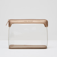 Clear make up bag - Rose Gold | Gifts for Her | Ted Baker