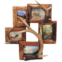 5 Photo Deer Antler Frame