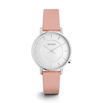 Komono Harlow Watch in Misty Rose
