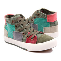 All match Women shoes high canvas shoes women fashion casual shoes for women Color block decoration
