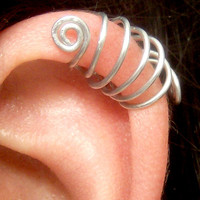 Cage Ear Cuff, Ear Wrap, No Pierce Earring, Cartilage Cuff, Helix Jewelry, Stocking Stuffer