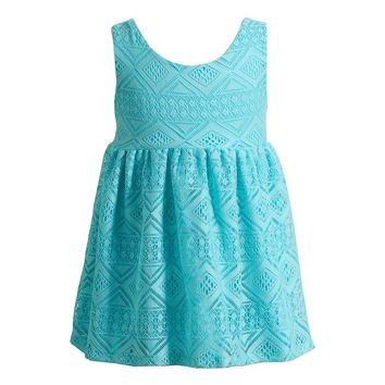 Youngland Crochet High-Low Dress - Baby Girl, Size: