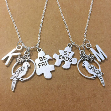 Two Bird Best Friend Personalized Charm Necklace