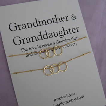 GRANDMOTHER Mother Daughter. 50th Birthday Gift for Her.Grandmother Granddaughter. 60th Birthday Grandmother Necklace. Birthday Gift for her