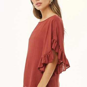 Relaxed Ruffled Top