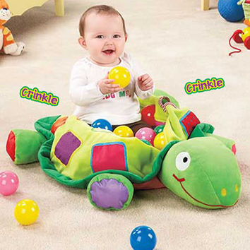Plush Turtle Ball Pit