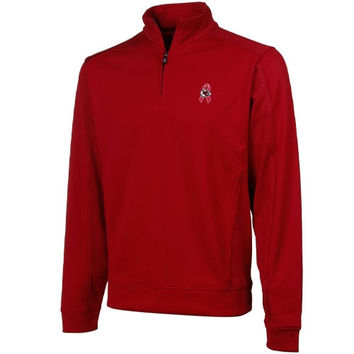 Cutter & Buck Kansas City Chiefs Breast Cancer Awareness Edge Quarter Zip Performance Jacket - Red