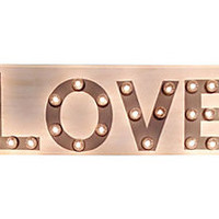 One Kings Lane - Off the Wall - 42x13 Marquee Light-Up Love Sign