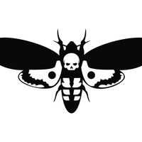 Hannibal Lecter Moth Silence of the Lambs Die Cut Vinyl Decal Sticker
