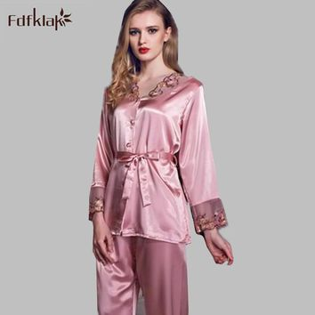 Women's Silk Satin Pajama Sets