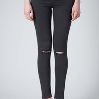MOTO Ripped Washed Black Jamie Jeans