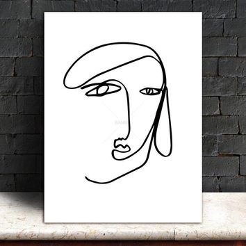 painting Canvas abstract print figure Wall Pictures Poster decor modern Wall art on canvas art print Brief strokes art portrait