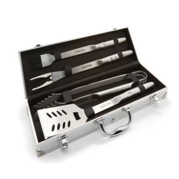 Southern Living Stainless Steel 4-Piece Grill Tool Set With Storage Case | Dillards.com