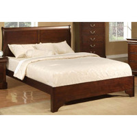 Alpine Furniture 2200F West Haven Cappuccino Full Low Footboard Sleigh Bed