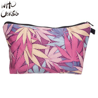 Leaf Maleta de Maquiagem Necessaire Party Makeup Bag