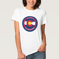 Colorado The Centennial State Personalized Flag Tee Shirts
