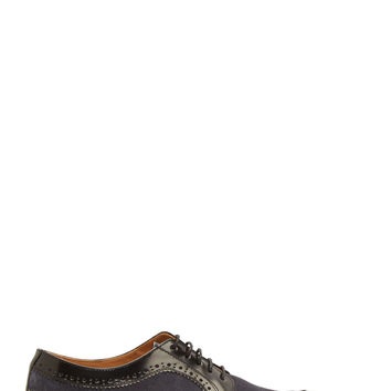 Paul Smith Black And Blue Longwing Grand Brogues