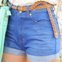 RESTOCK: Easy To Love Shorts: Denim