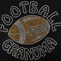 Rhinestone Football Grandma T-Shirt - Bling Shirt