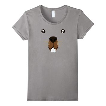 Groundhog Day 2018 Cute Animal Face Costume T-Shirt