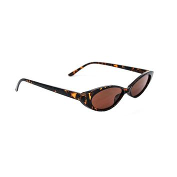 Small Oval Tortoise Brown 90s Sunglasses