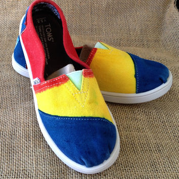 Custom Dyed Toms Shoes for Kids