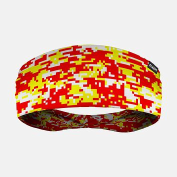 Digital Camo Yellow Red White Headband