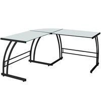 Gamma Contemporary Desk, Black & White
