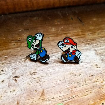 Super Mario Bros. Mario and Luigi Earrings