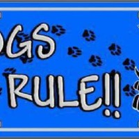 Dogs Rule  Decorative Sign Tag License Plate