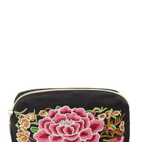 Embroidered Makeup Bag