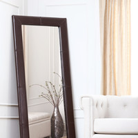 Blake Leather Large Floor Mirror