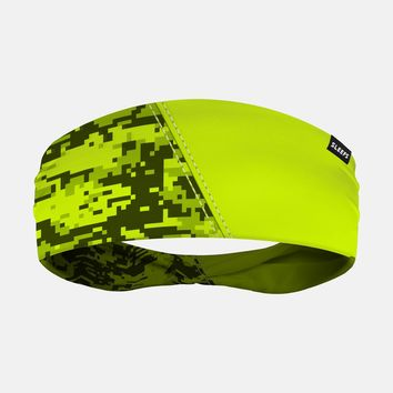 Arsenal Digi Camo Yellow Green Headband