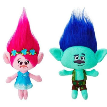 Trolls Plush Toy Poppy Branch Stuffed Cartoon Dolls Trolls Christmas Gifts