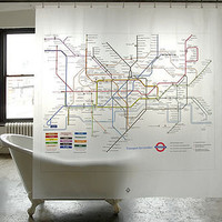 london underground shower curtain by evergreen wrap | notonthehighstreet.com