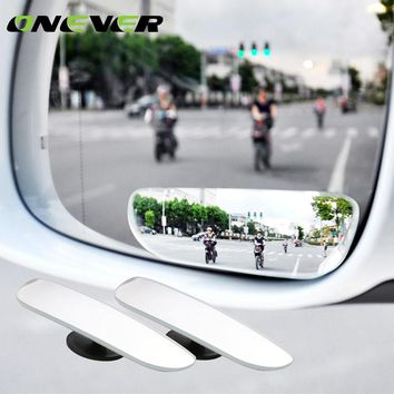 Onever 2pcs New 360 Degree Car mirror Wide Angle square Convex Blind Spot mirror for parking Rear view mirror car Accessories