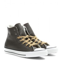 converse - chuck taylor all star high-top leather sneakers with shearling
