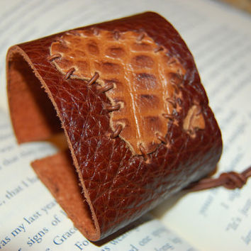 Africa Leather Cuff.  Give Back.  Donation.  Charitable Gift.  Brown Leather Cuff.  Free Gift Wrap.  Mothers Day Gift.
