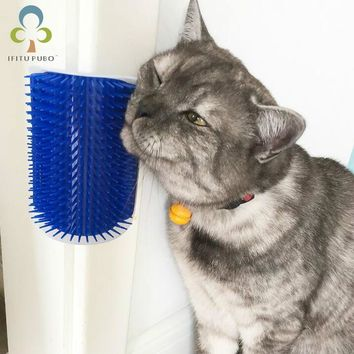 Pet Products For Cats Brush Corner Cat Massage cats furniture play Toy for Cats Brush Comb Brush With Catnip  LYQ