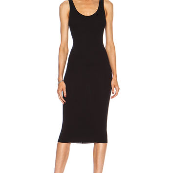 Enza Costa Rib Tank Viscose-Blend Dress in Black | FWRD